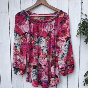 Anthropologie Vanessa Virginia floral blouse